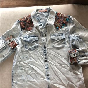 Western long sleeve button up